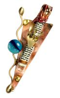 Gary  Rosenthal Mezuzah Cover with Glass Beads