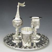 Silver Plated Complete Havdallah Set