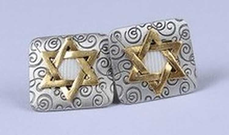 Star of David talit clips