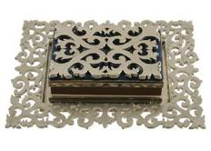 Pewter lace Matchbox