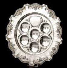 antique  Sterling Silver Seder Tray